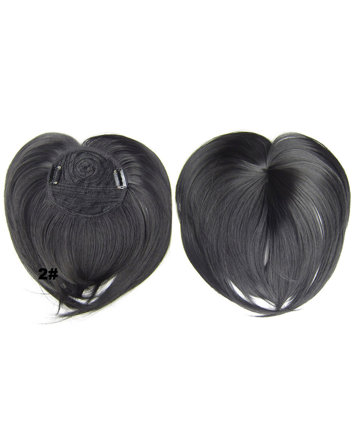 Girls Good Quality Straight Short Bangs Clip in Synthetic Hair Extension Fringe Bangs Hairpiece2#