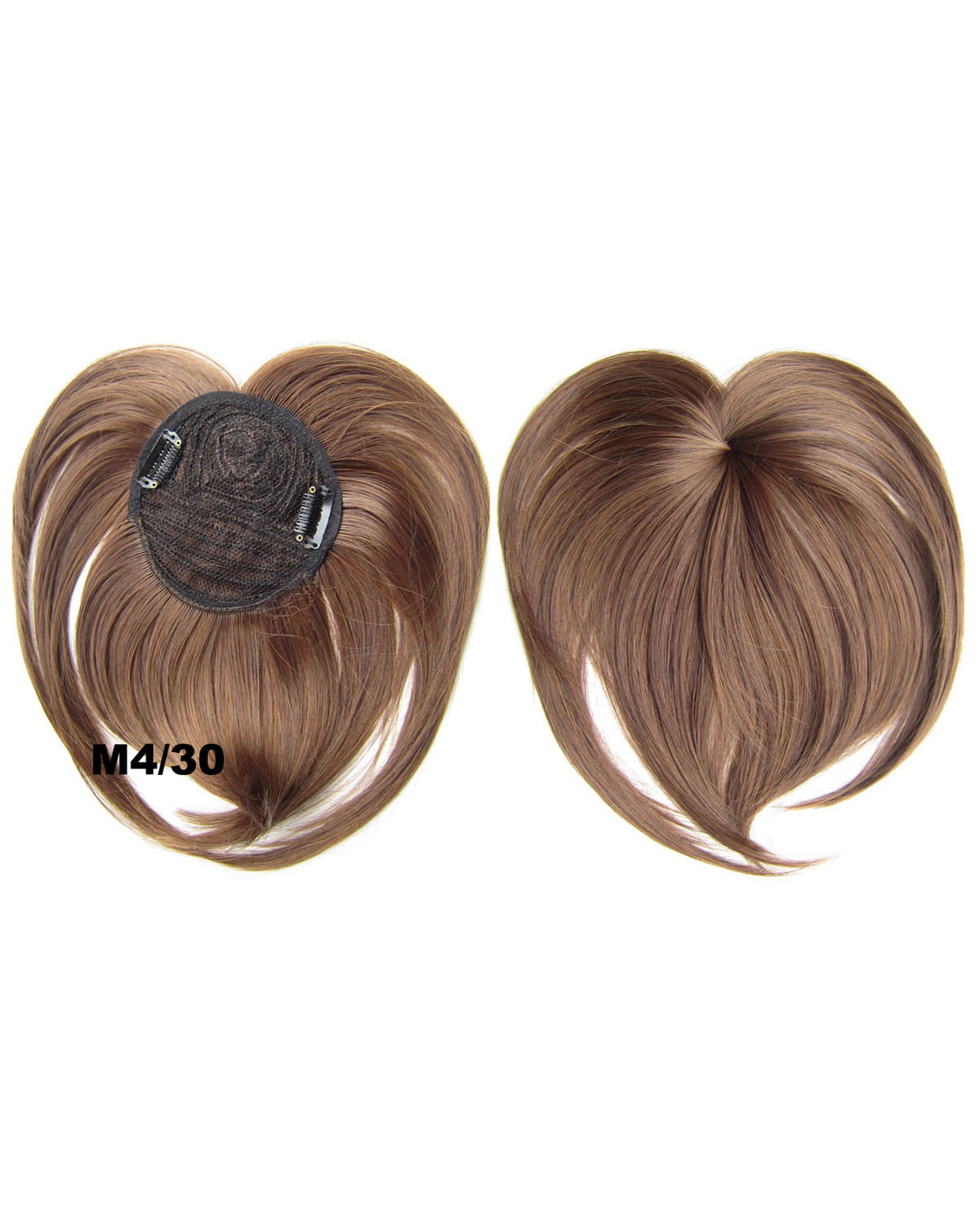 Girls Lustrous Straight Short Bangs Clip in Synthetic Hair Extension Fringe Bangs Hairpiece M4/30#