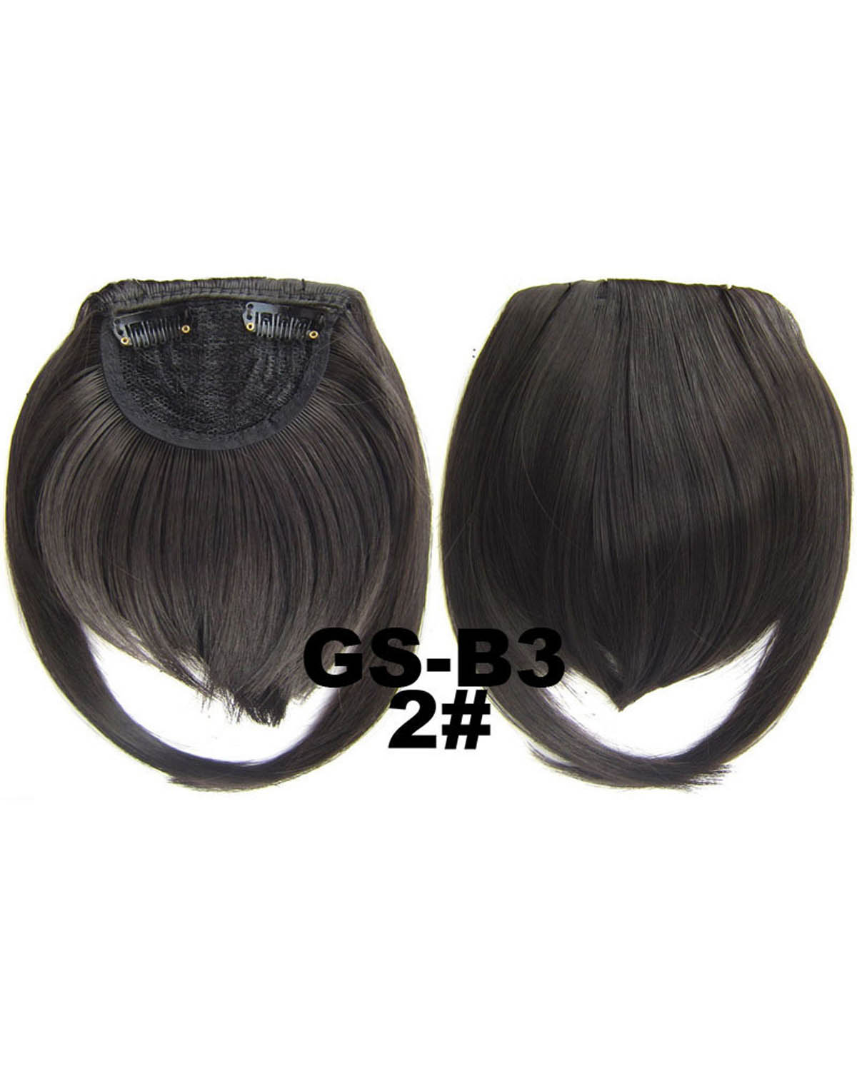 Girls Salable Straight Short Bangs Clip in Synthetic Hair Extension Fringe Bangs Hairpiece 2#