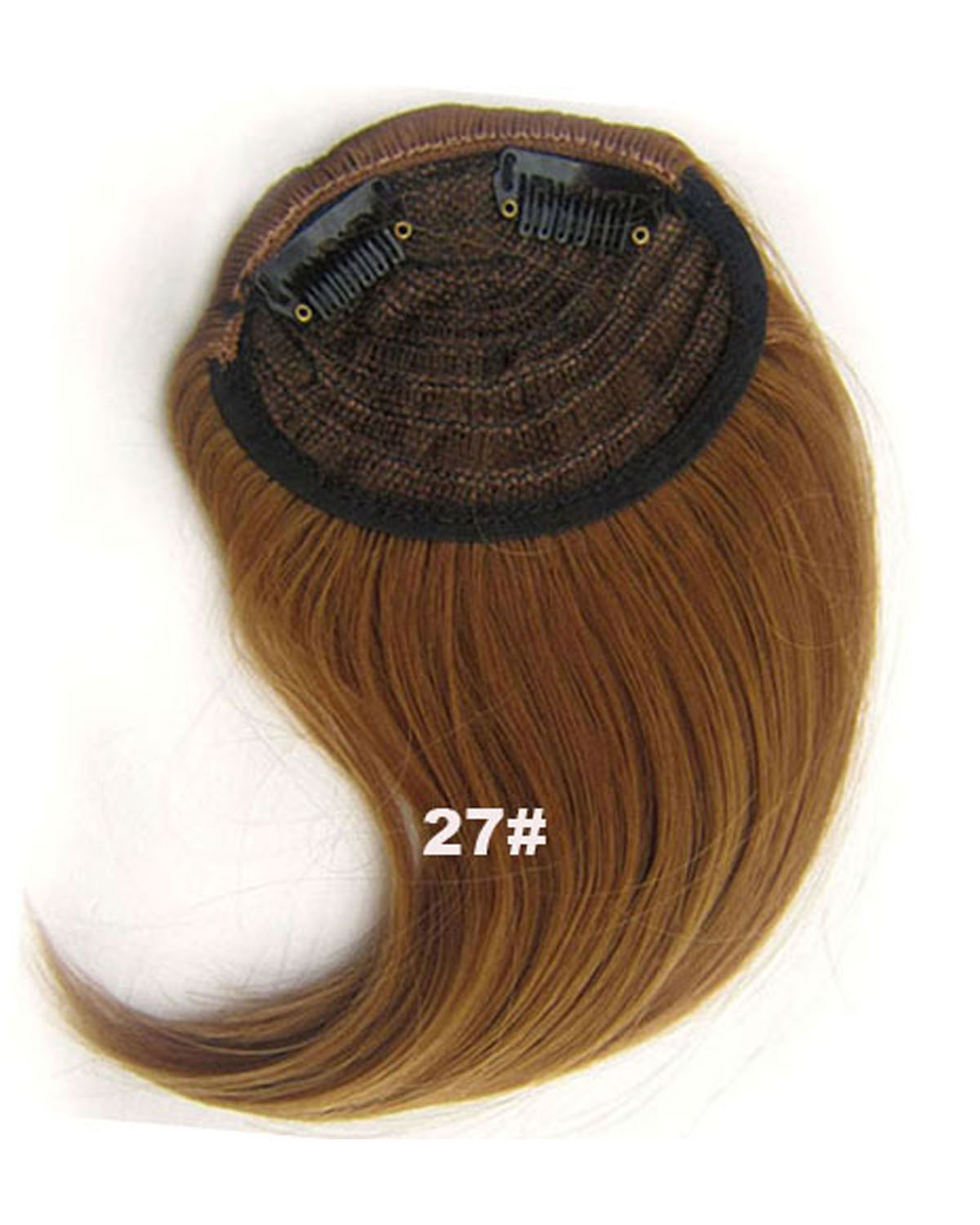 Girls Seductive Straight Short Bangs Clip In Synthetic Hair