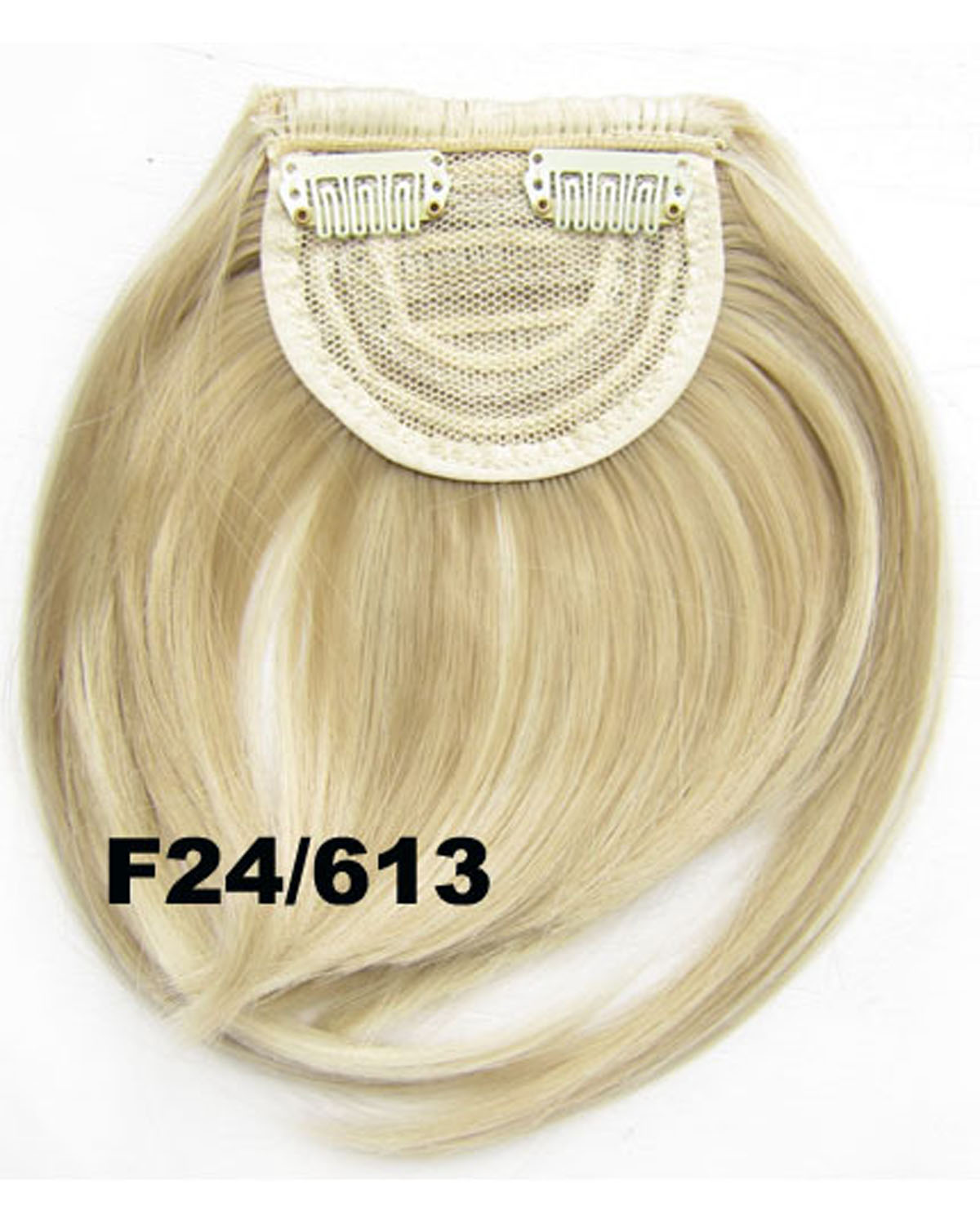Girls Shining Straight Short Bangs Clip in Synthetic Hair Extension Fringe Bangs Hairpiece F24/613