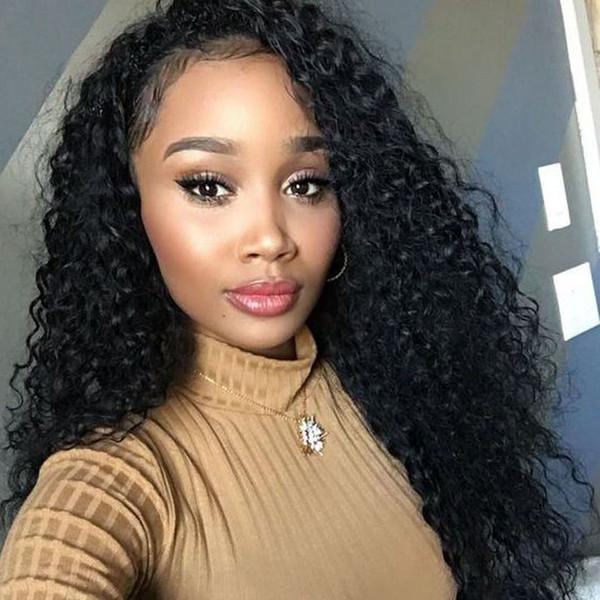 Glueless Full Lace Wigs Brazilian Virgin Hair Brazilian Curl