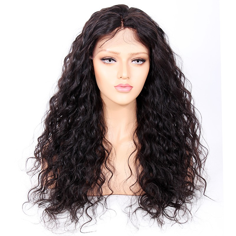 Glueless Full Lace Wigs Indian Remy Hair Curly 0