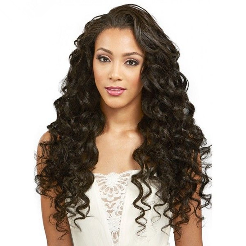 Glueless Full Lace Wigs Indian Remy Hair Middle Part Body Wave