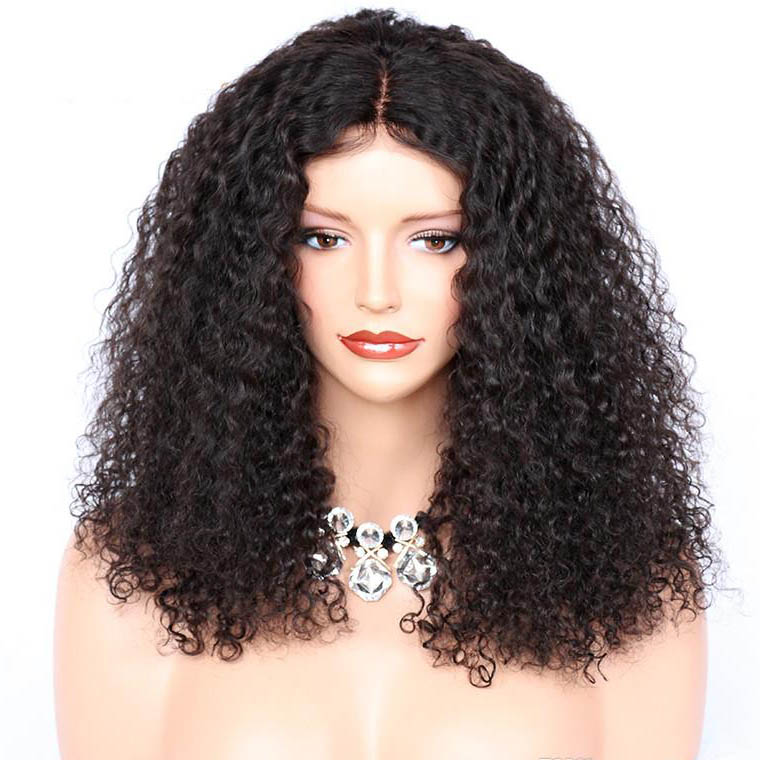 Glueless Full Lace Wigs Indian Remy Hair Tight Curly 0