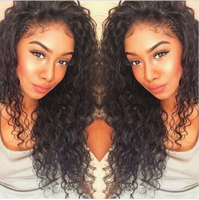 Glueless Full Lace Wigs Malaysian Virgin Hair Loose Curly 0