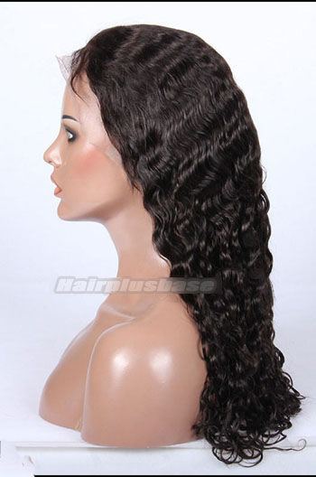 Glueless Lace Front Wigs Chinese Virgin Hair Brazilian Curl