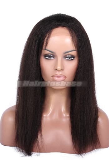 14 Inch Italian Yaki Chinese Virgin Hair Glueless Lace Front Wigs