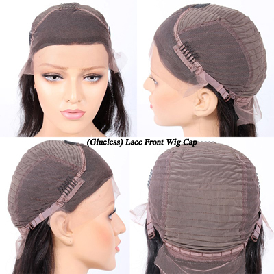 18 Inch Peruvian Curl Chinese Virgin Hair Glueless Lace Front Wigs