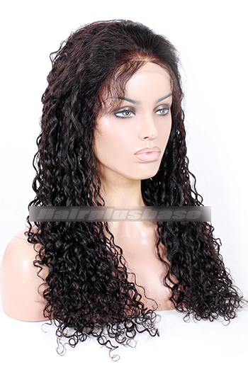 22 Inch Water Wave Chinese Virgin Hair Glueless Lace Front Wigs