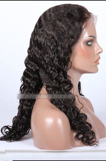 Brazilian Curl Indian Remy Hair Glueless Lace Front Wigs