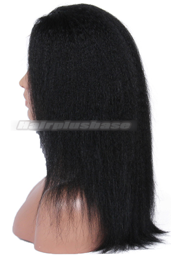 Stock Glueless Lace Front Wigs Italian Yaki Indian Remy Hair