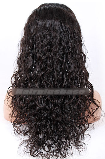 20 Inch Loose Curl Indian Remy Hair Glueless Lace Front Wigs