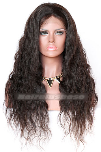 Natural Wave Indian Remy Hair Glueless Lace Front Wigs