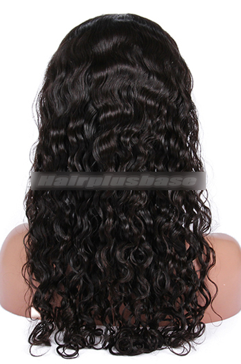 18 Inch Brazilian Virgin Hair Peruvian Curl Glueless Lace Front Wigs