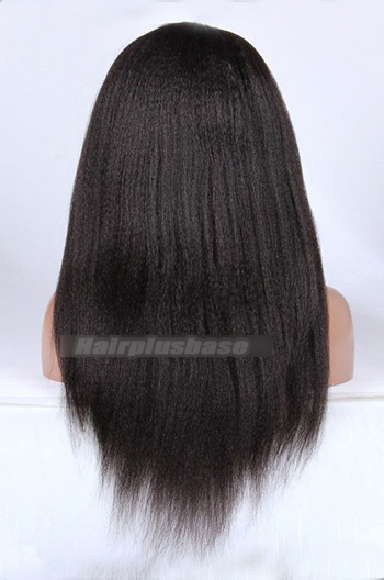 Malaysian Virgin Kinky Straight Hair Front Lace Wigs
