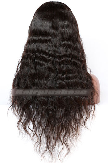 22 Inch Malaysian Virgin Hair Natural Wave Glueless Lace Front Wigs