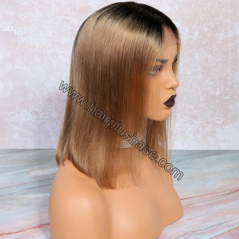 Glueless Lace Front Wigs Peruvian Virgin Hair Ombre Bob Wigs 5