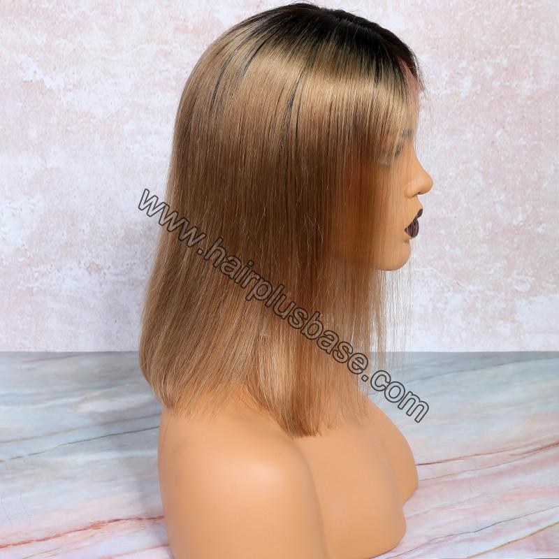 Glueless Lace Front Wigs Peruvian Virgin Hair Ombre Bob Wigs 6