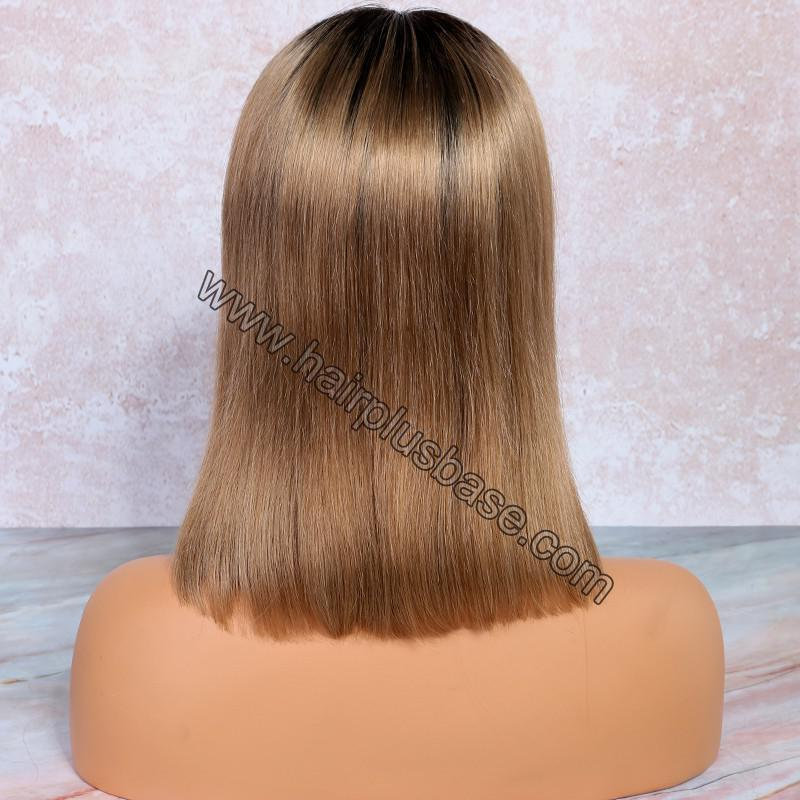 Glueless Lace Front Wigs Peruvian Virgin Hair Ombre Bob Wigs 7