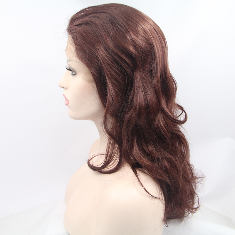 Glueless Long Ombre Brown Synthetic Lace Front Wig 1