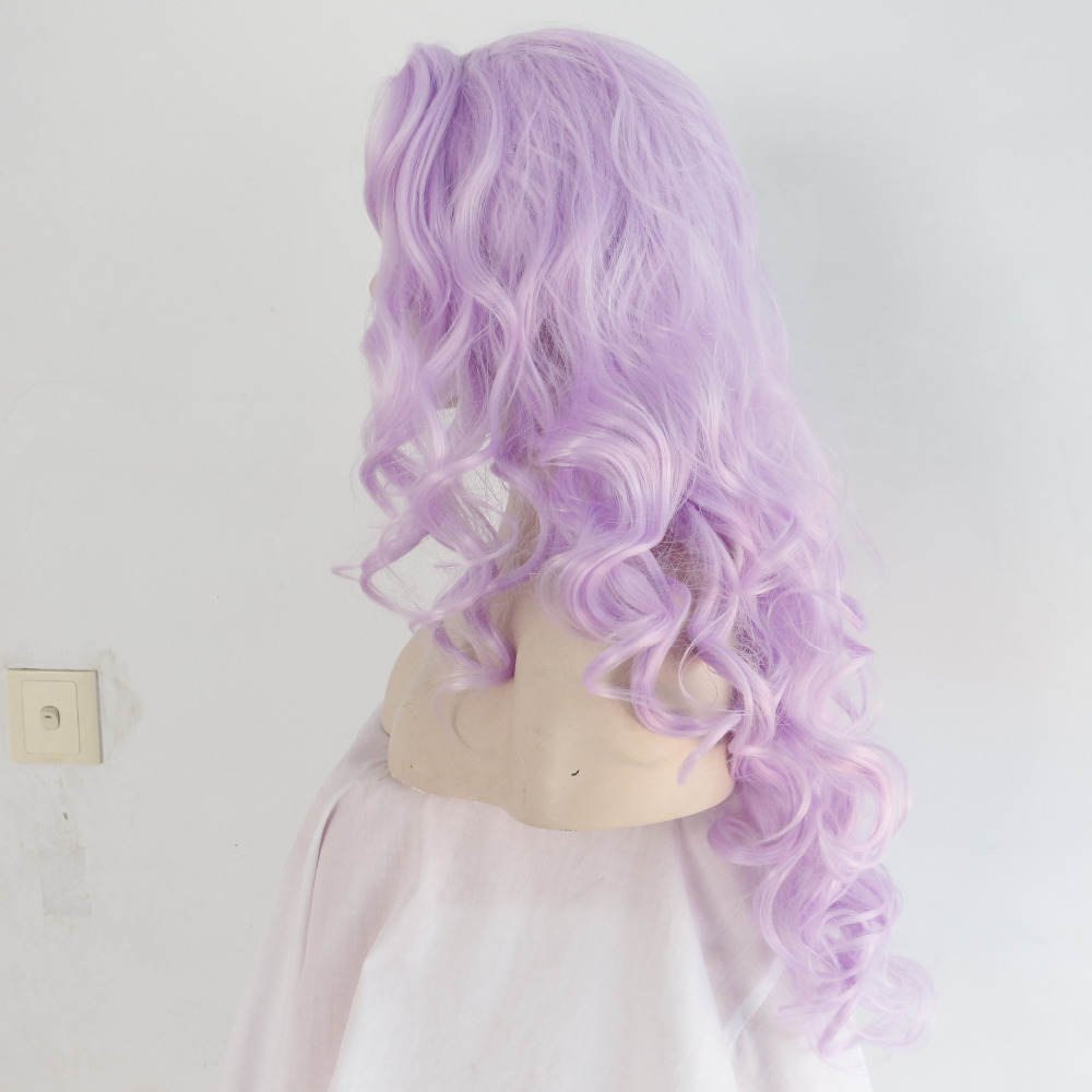 Glueless Purple Wavy Synthetic Lace Front Wig 2