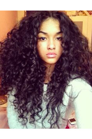 22 Inch Brazilian Virgin Hair Gorgeous Sexy Big Curls Full Lace Wigs
