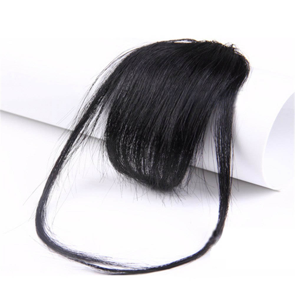 Gorgeous Real Human Hair Air Bangs With Temples/No Sideburns Mini Fashion Clip In Hair Extension
