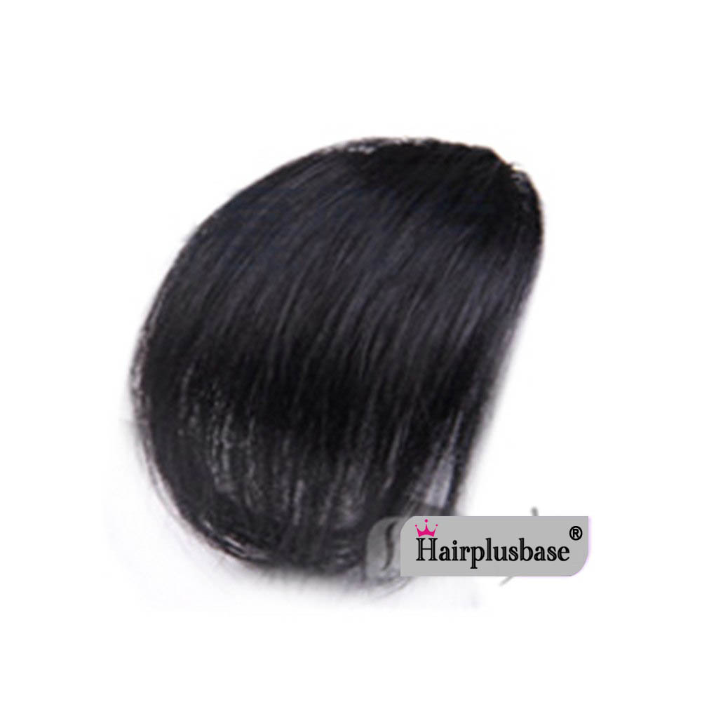 Gorgeous Real Human Hair Air Bangs With Temples/No Sideburns Mini Fashion Clip In Hair Extension 10