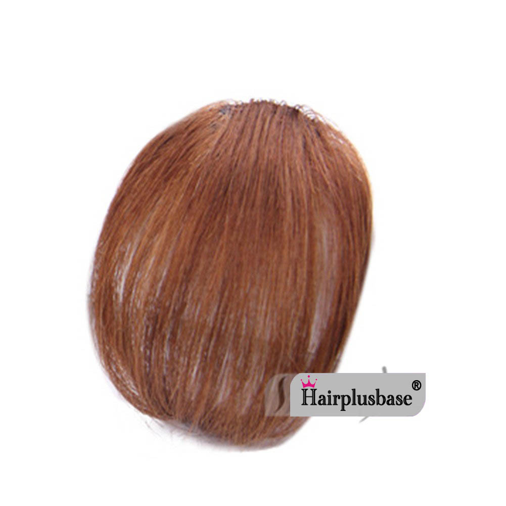 Gorgeous Real Human Hair Air Bangs With Temples/No Sideburns Mini Fashion Clip In Hair Extension 2