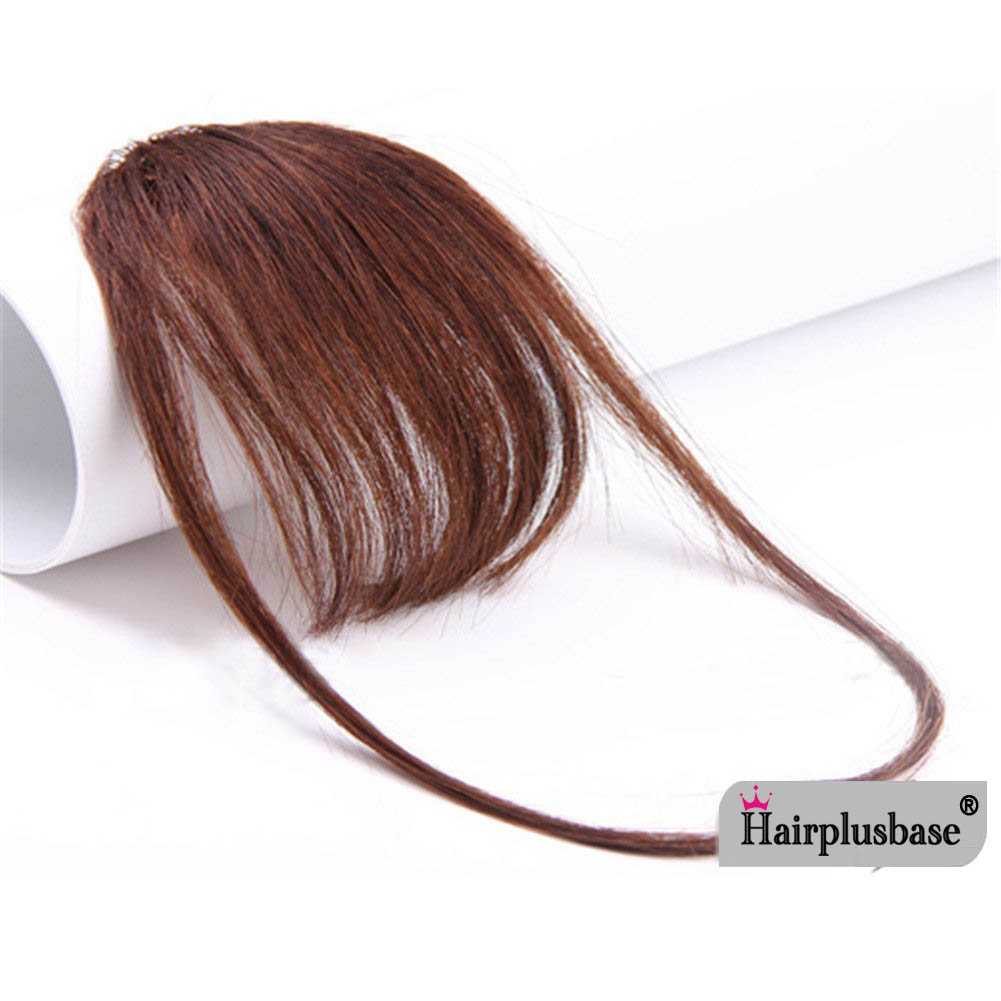 Gorgeous Real Human Hair Air Bangs With Temples/No Sideburns Mini Fashion Clip In Hair Extension 3
