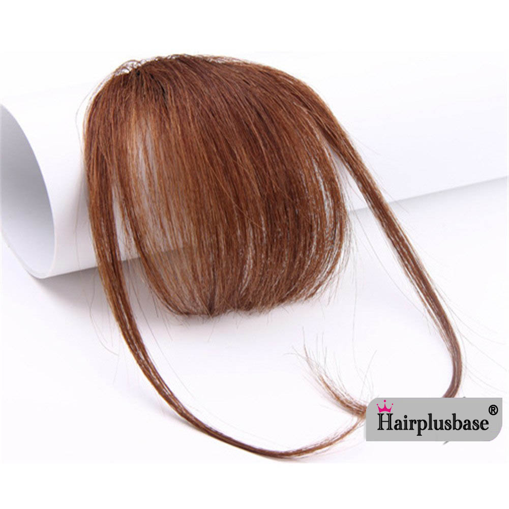 Gorgeous Real Human Hair Air Bangs With Temples/No Sideburns Mini Fashion Clip In Hair Extension 4