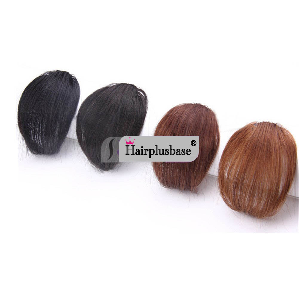 Gorgeous Real Human Hair Air Bangs With Temples/No Sideburns Mini Fashion Clip In Hair Extension 5