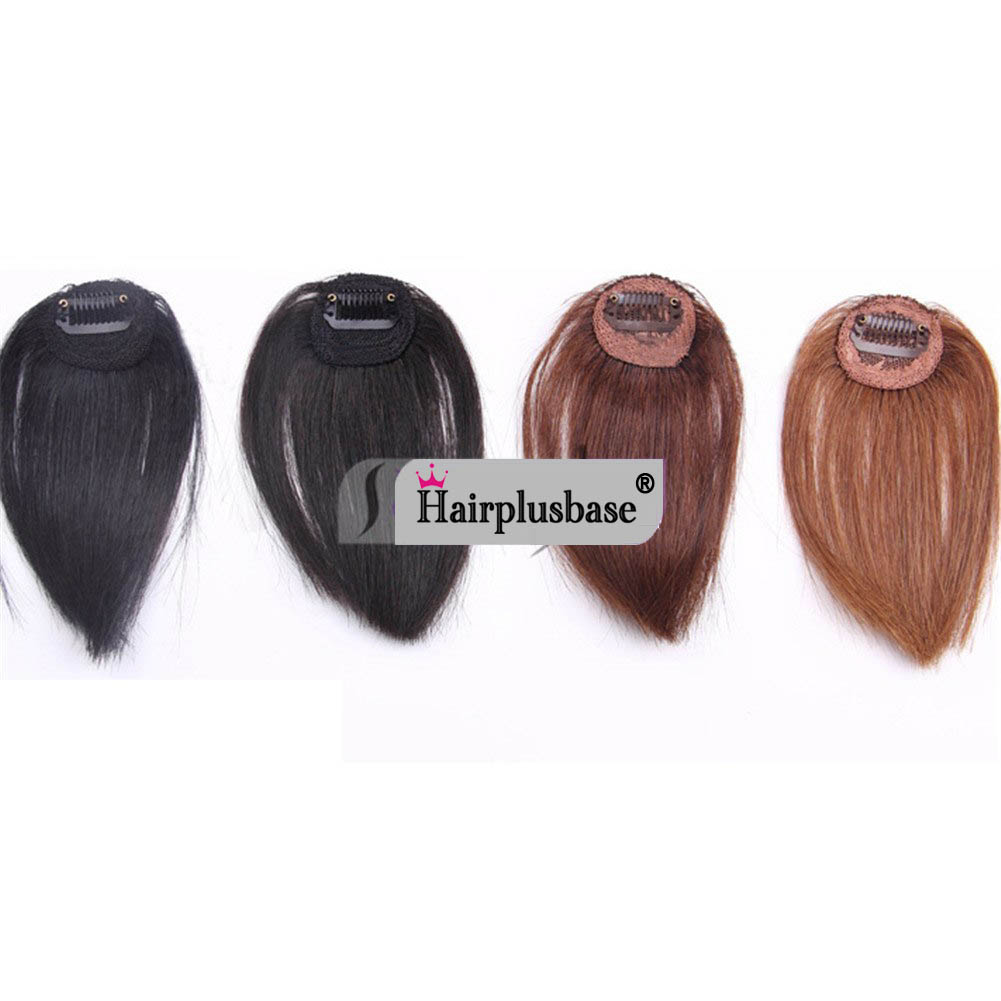 Gorgeous Real Human Hair Air Bangs With Temples/No Sideburns Mini Fashion Clip In Hair Extension 6