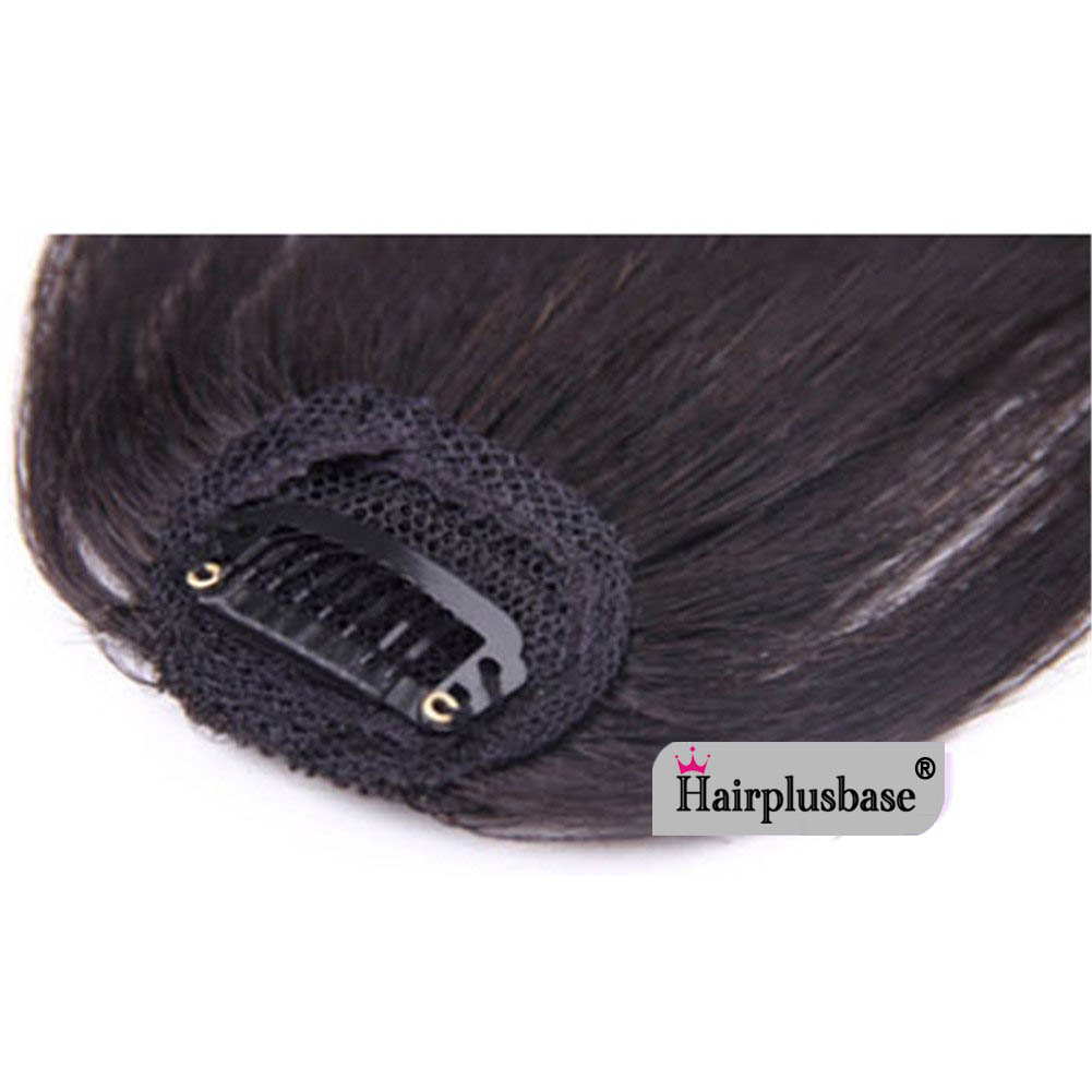 Gorgeous Real Human Hair Air Bangs With Temples/No Sideburns Mini Fashion Clip In Hair Extension 7