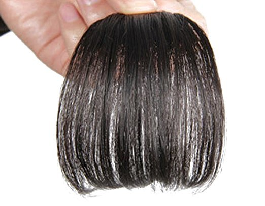 Gorgeous Real Human Hair Flat Bangs/Fringe Hand Tied Bangs With Temples Mini Fashion Clip In Hair Extension Natural Black