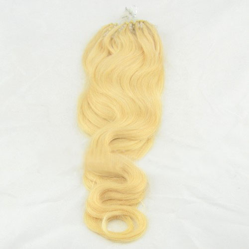 great quality 34 inch  613 bleach blonde body wave micro loop hair extensions 100 strands 21705 0v