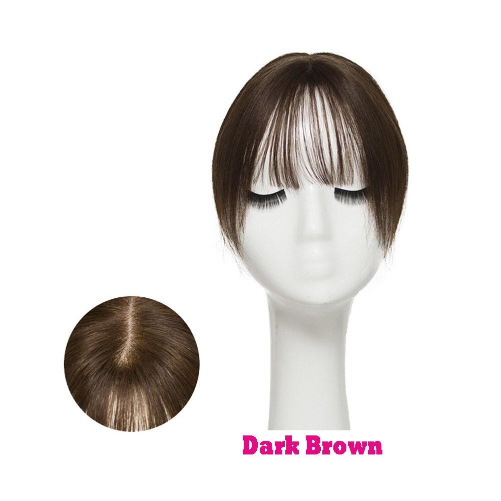 Hair Clip In 100% Human Hair Topper Piece Thin Air Bangs Fringe Remy Human Hairpiece 10