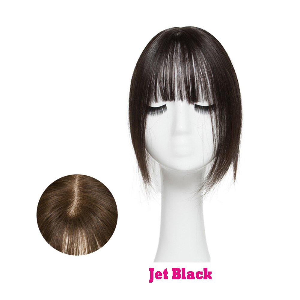 Hair Clip In 100% Human Hair Topper Piece Thin Air Bangs Fringe Remy Human Hairpiece 2