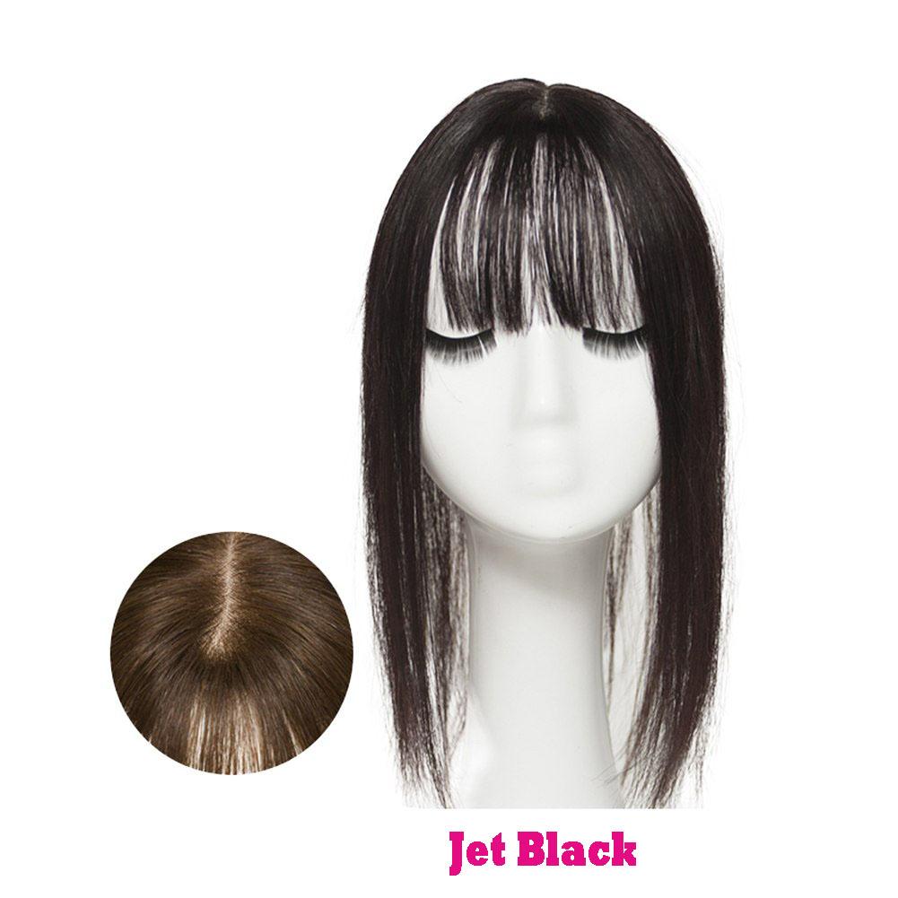 Hair Clip In 100% Human Hair Topper Piece Thin Air Bangs Fringe Remy Human Hairpiece 4