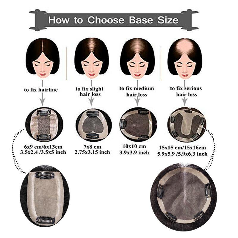 Hair Clip In 100% Human Hair Topper Piece Thin Air Bangs Fringe Remy Human Hairpiece 7