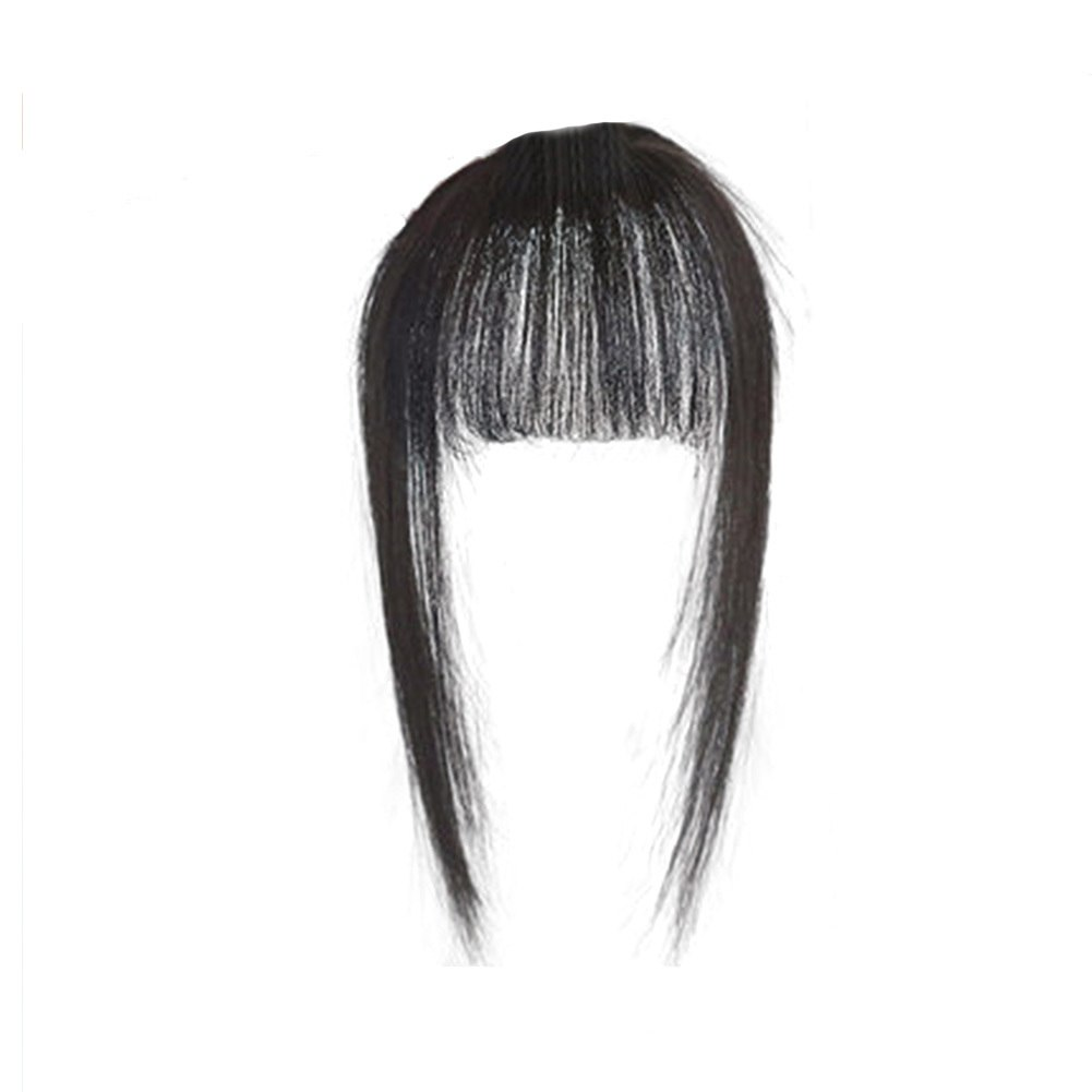 Hair Toupee Neat Bangs Stragight  Mono 3.5*4.5cm Net Breathable Light And Thin Straight Hair Topper For Loss Hair Cover White Hair 2