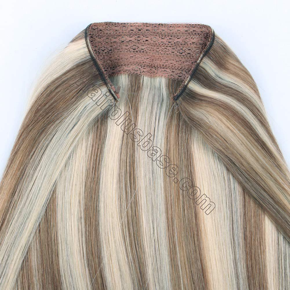 Halo Hair Extensions For Short Hair #8/613 Body Wave/Straight 4