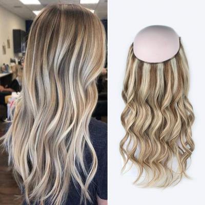 Halo Hair Extensions For Short Hair #8/613 Body Wave/Straight