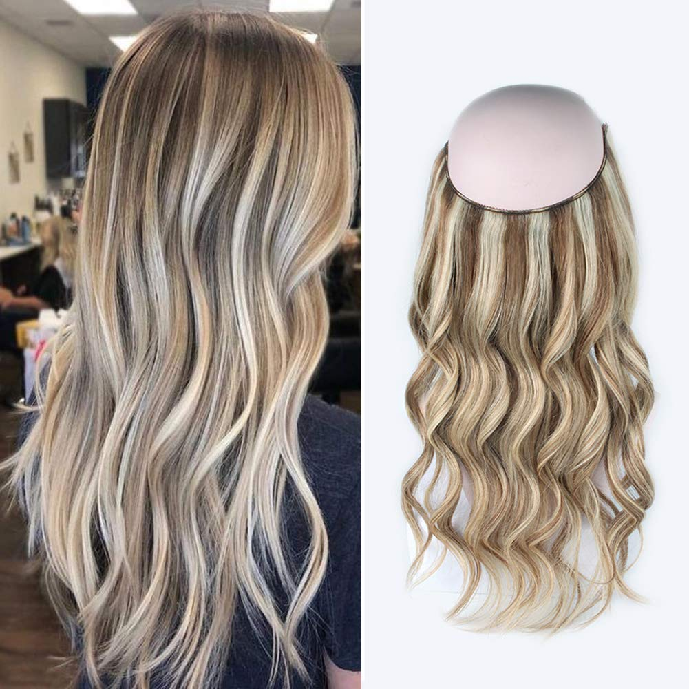Halo Hair Extensions For Short Hair #8/613 Body Wave/Straight 9