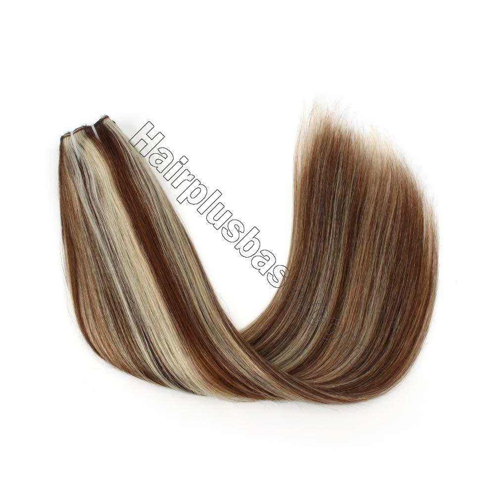 Halo Human Hair Extensions #4/613 Body Wave/Straight 2