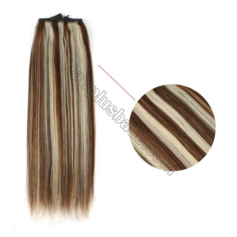 Halo Human Hair Extensions #4/613 Body Wave/Straight 3
