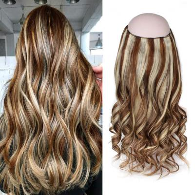 Halo Human Hair Extensions #4/613 Body Wave/Straight