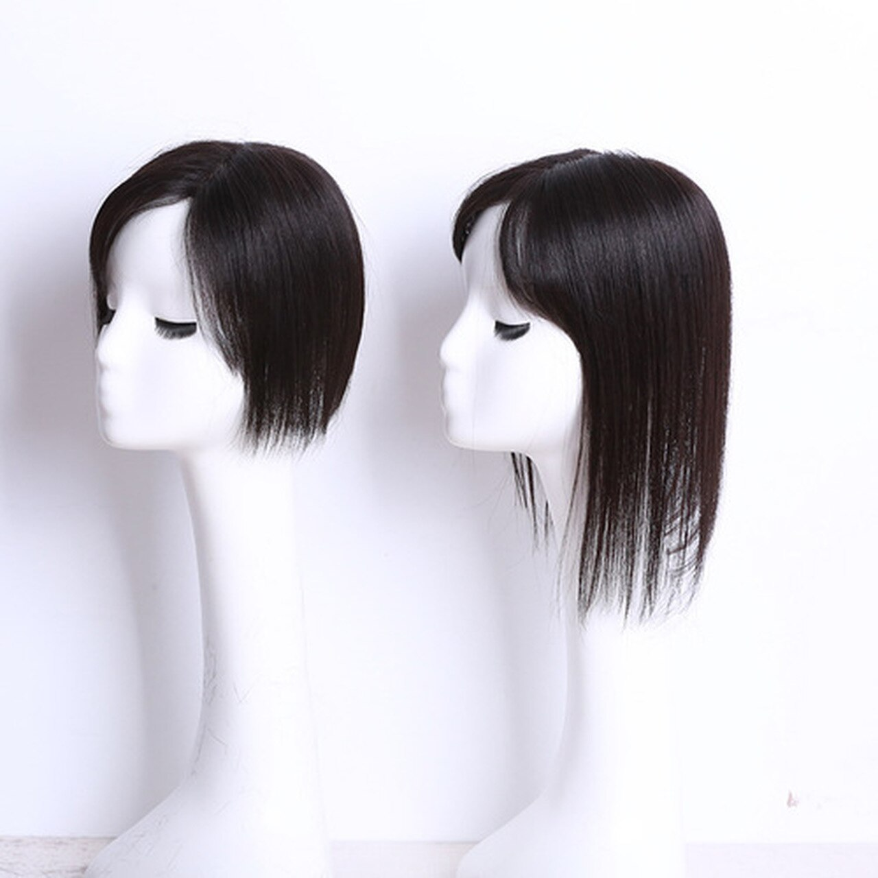 Hand Made MONO Silk Human Hair Topper Straight Clip In Toupee Hair Hairpieces