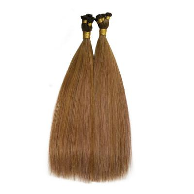 Hand Tied Hair Extensions Human Hair Wefts 6 Bundles/Pack Ombre #6T(#30/33)